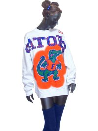 【Vintage】【SALEM/Sunrise Sportswear】GATORS Look Like Paint トレーナー/ライトグレー/L