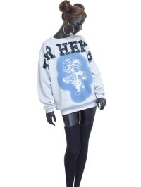 【Vintage】【TULTEX/Sunrise Sportswear】NORTH CAROLINA TAR HEELS Look Like Paint トレーナー/ライトグレー/L